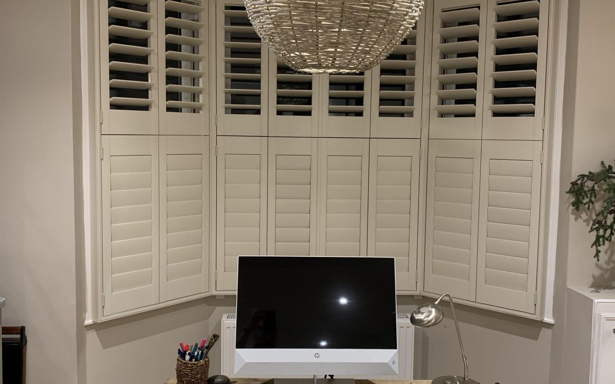 Tier-on-Tier Shutters with Bespoke Sizing Available by Woodstock Shutter Company